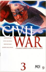 Civil War #3 Dynamic Forces Signed Morry Hollowell DF COA Ltd 360 Marvel comic book